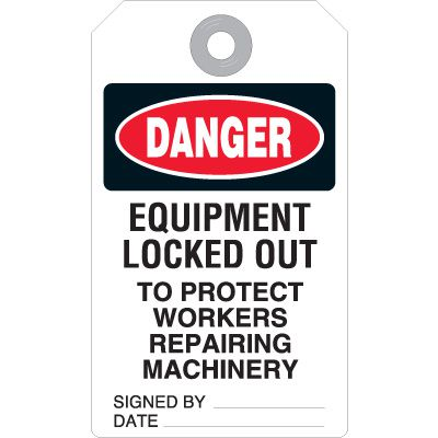 Standard Lock-Out Tags