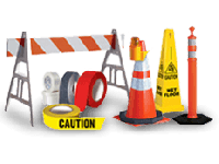 Traffic Cones, Barricades, Tapes