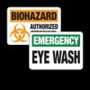First Aid, Eyewash & Biohazard Sign