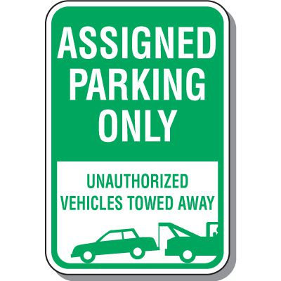 Permit & Visitor Parking Signs