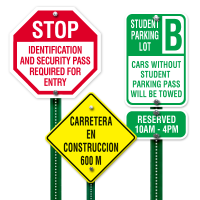 Custom High-Intensity Reflective Traffic and Parking Signs