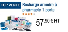 TOP VENTE - Recharge armoire à pharmacie 1 porte