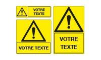 Panneaux personnalisés avec picto et texte
