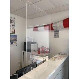 Protection de comptoirs et bureaux avec passe-document