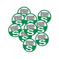 Badges S.S.T. avec épingle à nourrice