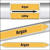 Marqueurs de tuyauterie CLP texte Argon