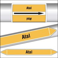 Marqueurs de tuyauterie CLP texte Atal