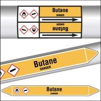 Marqueurs de tuyauterie CLP texte Butane