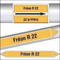 Marqueurs de tuyauterie CLP Fréon R 22