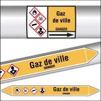 Marqueurs de tuyauterie CLP Gaz de ville