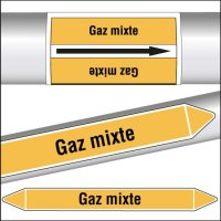 Marqueurs de tuyauterie CLP Gaz mixte