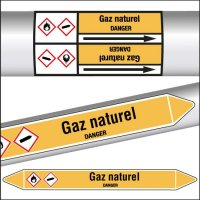 Marqueurs de tuyauterie CLP Gaz naturel