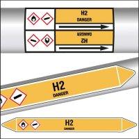 Marqueurs de tuyauterie CLP texte H2