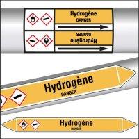 Marqueurs de tuyauterie CLP Hydrogène