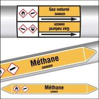 Marqueurs de tuyauterie CLP Méthane