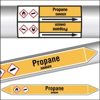 Marqueurs de tuyauterie CLP Propane