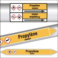 Marqueurs de tuyauterie CLP Propylène