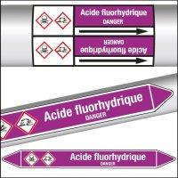 Marqueurs de tuyauterie CLP Acide fluorhydrique