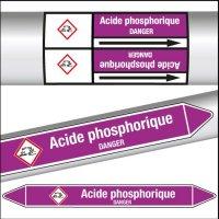 Marqueurs de tuyauterie CLP Acide phosphorique