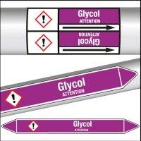 Marqueurs de tuyauterie CLP texte Glycol