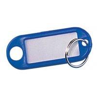 """Porte-clés colorés """"Eco"""" avec étiquette blanche"""