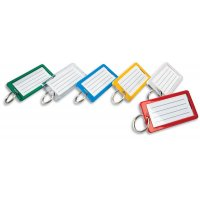 Porte-clé large avec plage d'écriture