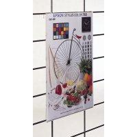 Porte visuel vertical pour grilles d'exposition