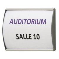 Plaques de porte galbées aluminium AluSign®