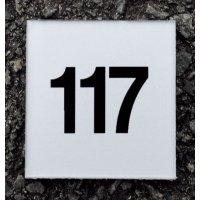 Numéros et plaques de porte Argent/Noir