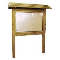 Planimètre Classic bois avec vitrine et toit