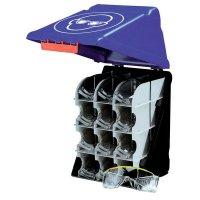Boîte de 12 casiers pour lunettes fixation murale