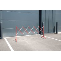 Barrières de chantier droites extensibles en acier