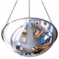 Miroir 1/2 sphère horizontale avec perçage