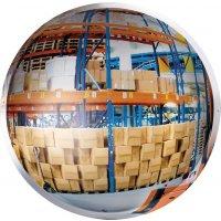 Miroir 1/2 sphère verticale