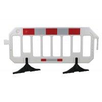 Barrière mobile haute visibilité en polyéthylène