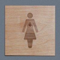 Plaques en bois gravée personnalisable avec picto
