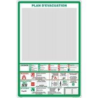 Support plexi Sécurité Plan d'évacuation / Intervention