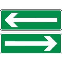 Panneau indication Flèche sens évacuation