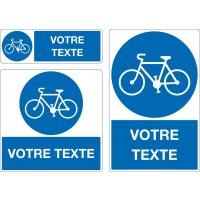 Panneau Piste cyclable personnalisé