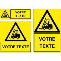 Panneau Danger Circulation de chariots personnalisé