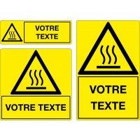 Panneau Danger haute température personnalisé