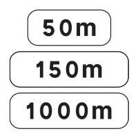 Panonceau complémentaire M1 pour panneau routier type A