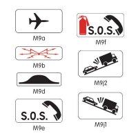 Panonceau complémentaire pour panneau routier modèle M9