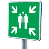 Symbole Point de rassemblement support en alu Symbole