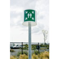 Point de rassemblement signalisation ronde 360°