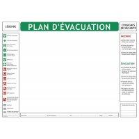 Fond de plan d'évacuation norme NF X 08-070