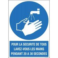 Poster lavage des mains avec de l'eau