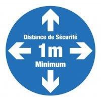 Marquage au sol rond Distance de sécurité 1m minimum