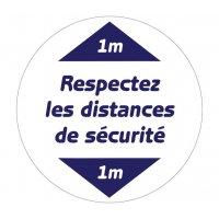 Marquage au sol rond Respectez les distances de sécurité