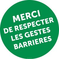 Marquage au sol rond Respect des gestes barrières